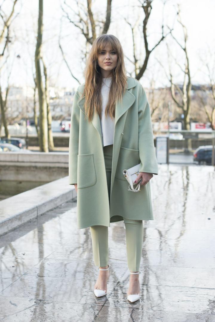 la moda invernasl variaciones verde