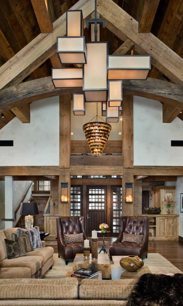 lampara-original-casa-techo-alto-diseno-rustico