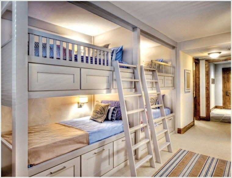 dormitorios compartidos con literas