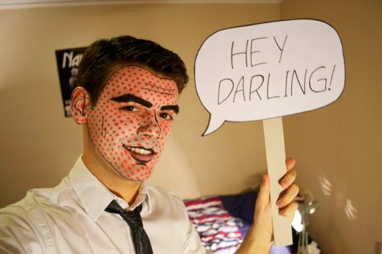 ideas de maquillaje de hombre para Halloween