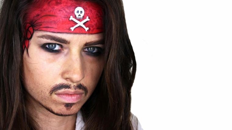 Maquillaje de Jack Sparrow