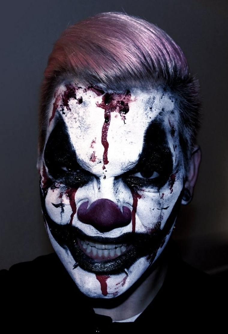 Maquillaje de payaso terrorífico