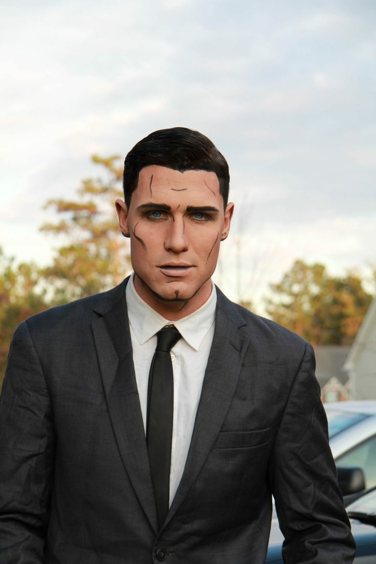 maquillaje de hombre para Halloween