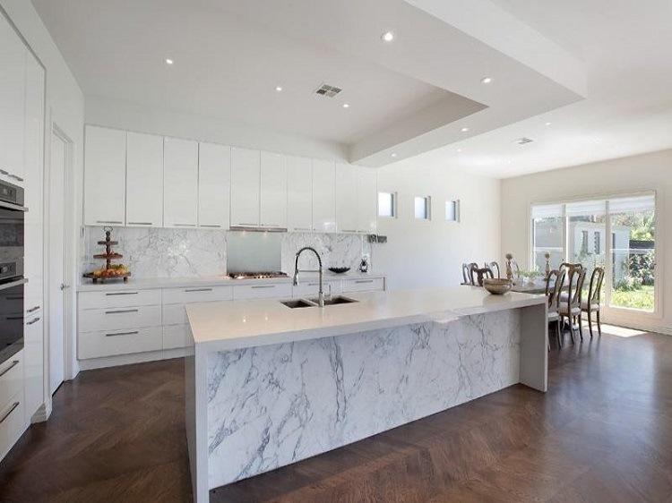 M rmol para el dise o de cocinas modernas deslumbrantes - Marmol en cocina ...