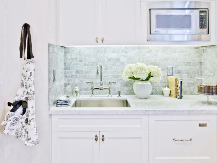 encimeras de cocina de mármol de Carrara