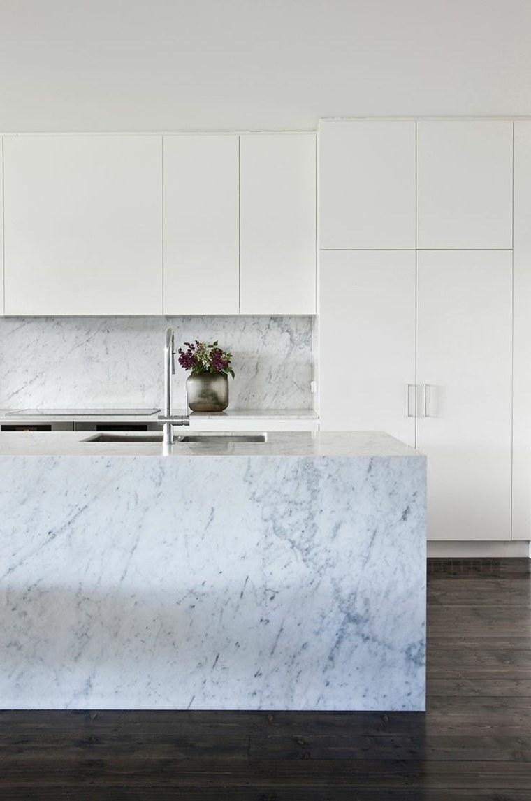 M rmol de carrara en la cocina ideas de dise o para - Disenos en marmol ...