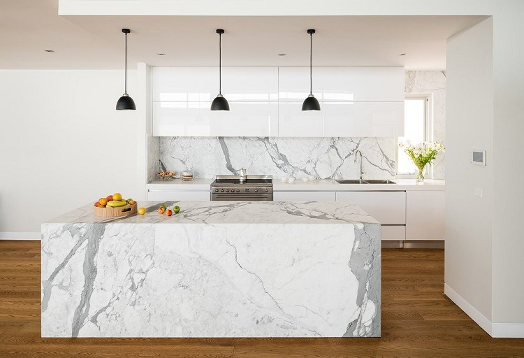 M rmol para el dise o de cocinas modernas deslumbrantes - Disenos en marmol ...