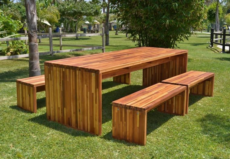 mesa-bancos-madera-jardin-ideas-proteger-invierno