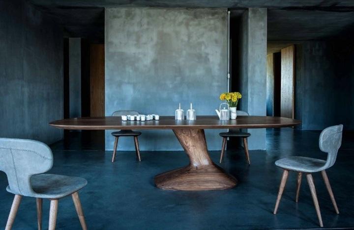 mesa efecto movimiento madera