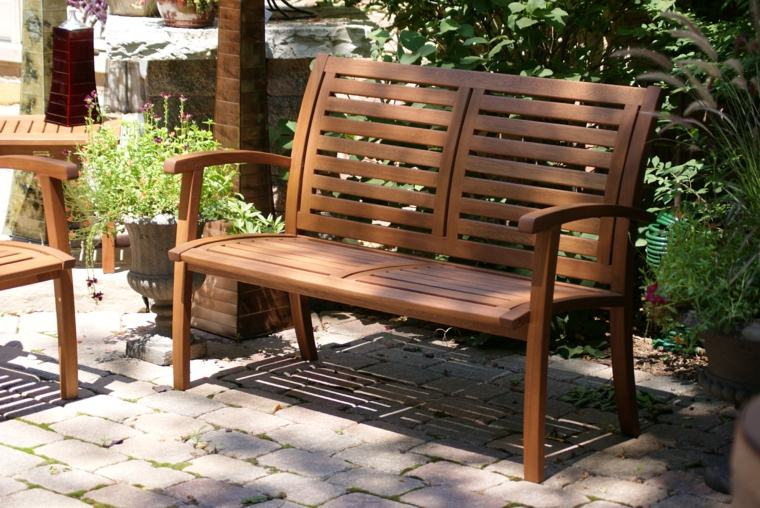 muebles de madera ideas-banco-madera-pequeno