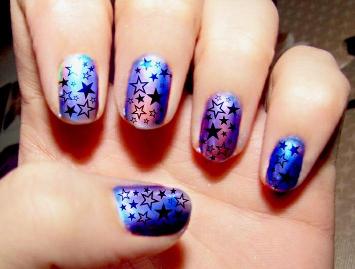 originales estrellas decorativas uñas