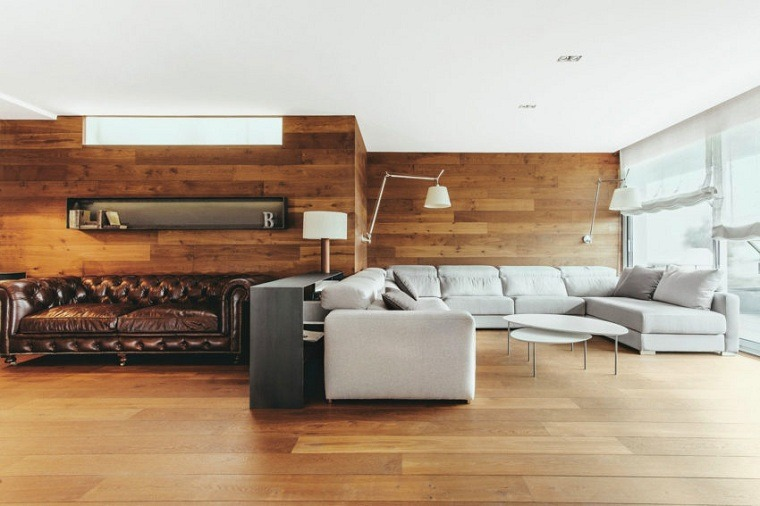 paneles decorativos-salon-madera-suelo-madera