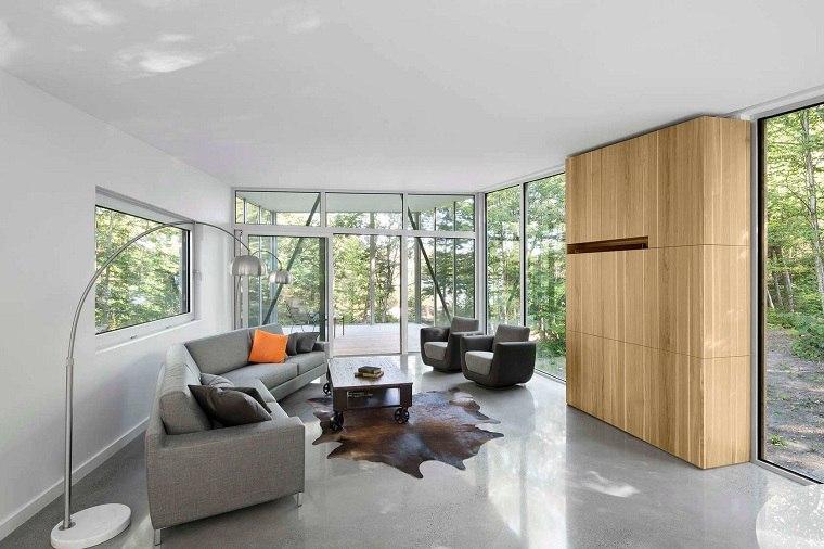 paneles decorativos-salon-madera-ventanas-estilo