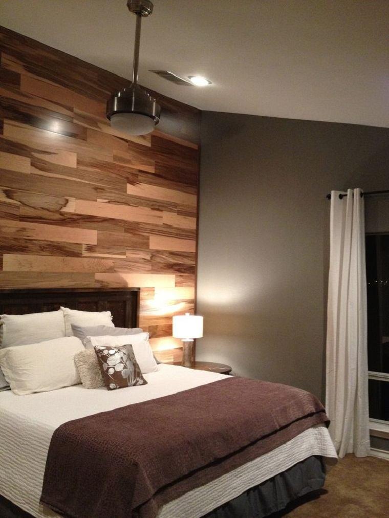 Paredes de madera en dormitorios ideas geniales con un - Habitacion de madera ...