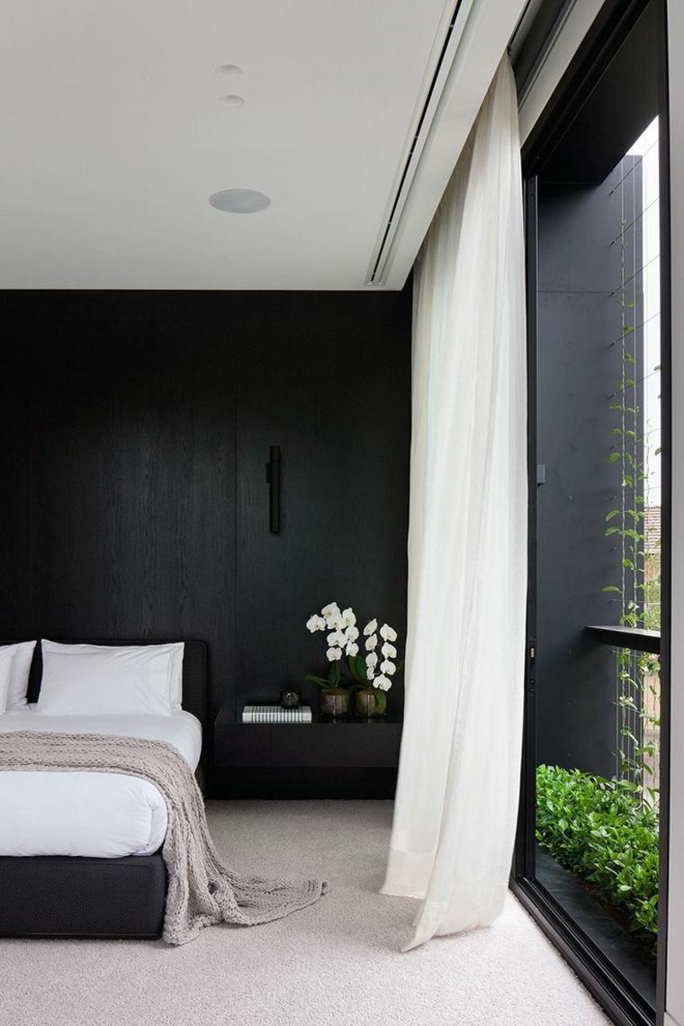 paredes de habitaciones oscuras