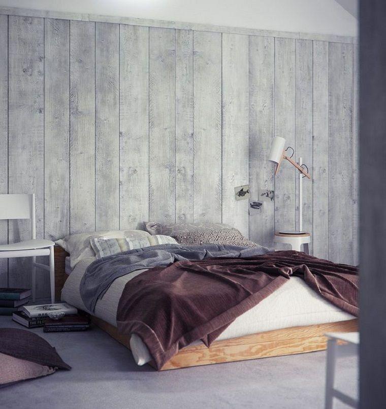 habitaciones con paredes de madera