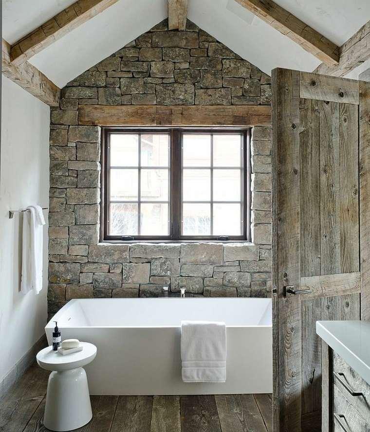 Paredes de piedra natural en el dise o del interior - Decorar paredes con piedra ...