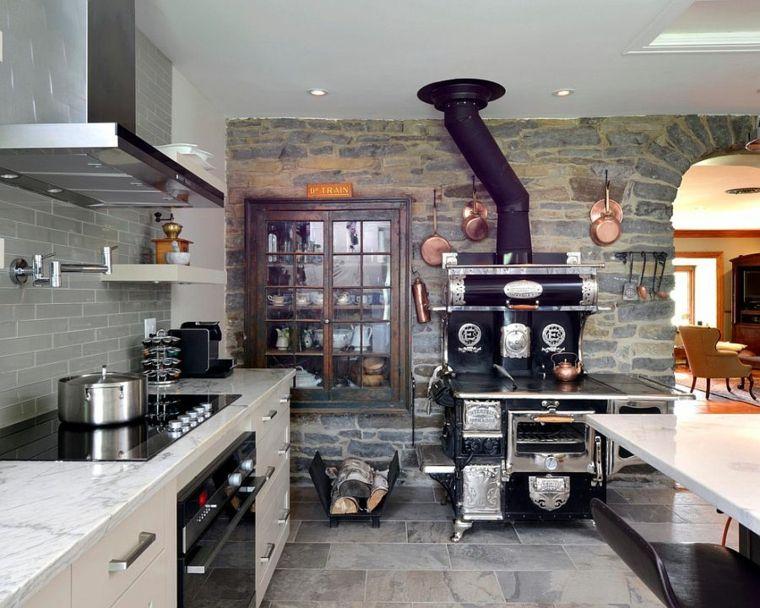 paredes de piedra-cocina-muebles-rusticos-estilo-original