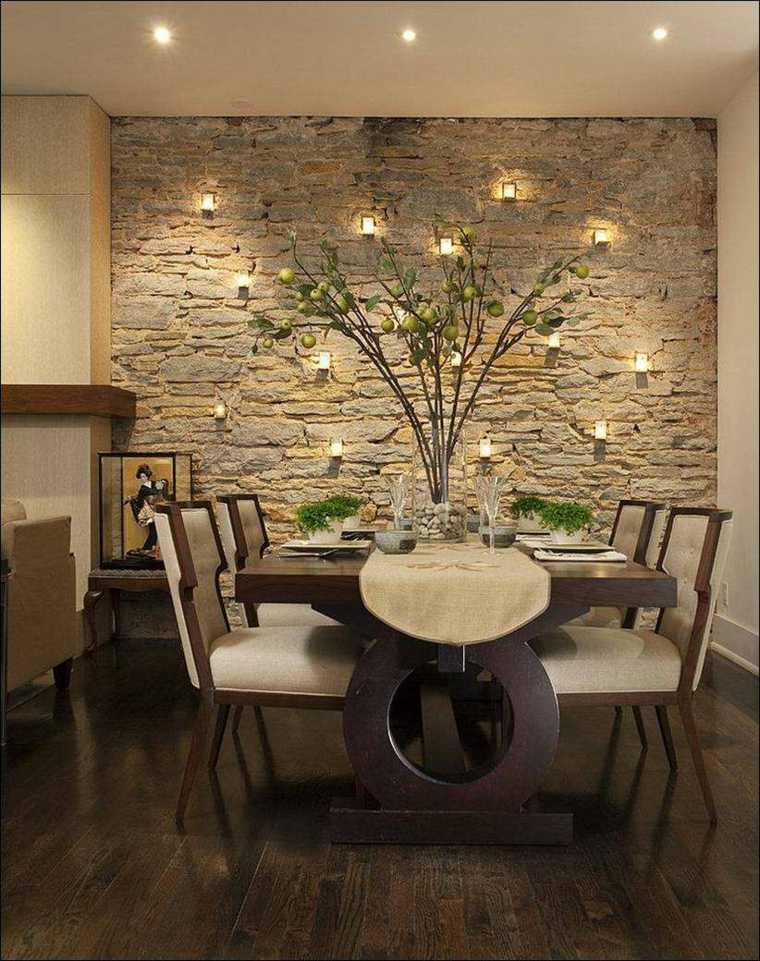 paredes-de-piedra-comedor-estilo-diseno-clásico