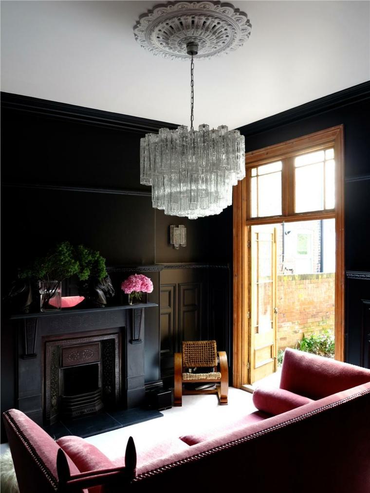 paredes pintadas-negro-salon-estilo-moderno