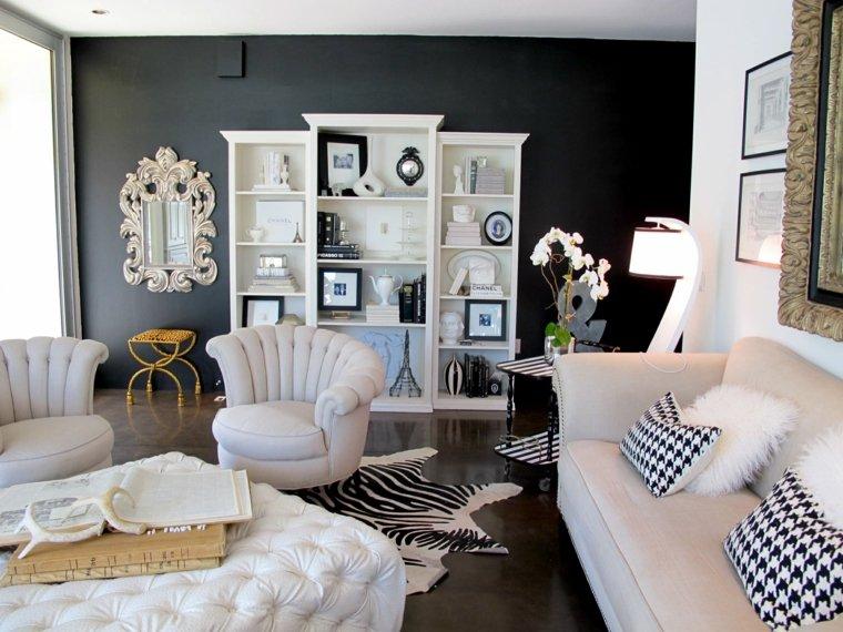 paredes-pintadas-negro-salon-muebles-blancos