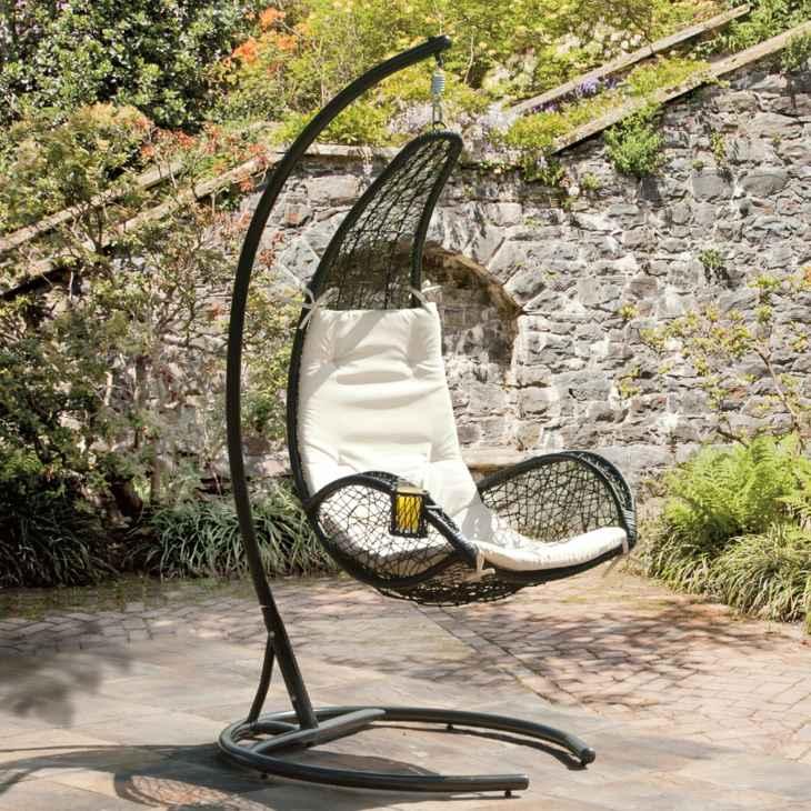 patios sillas colgantes modernas