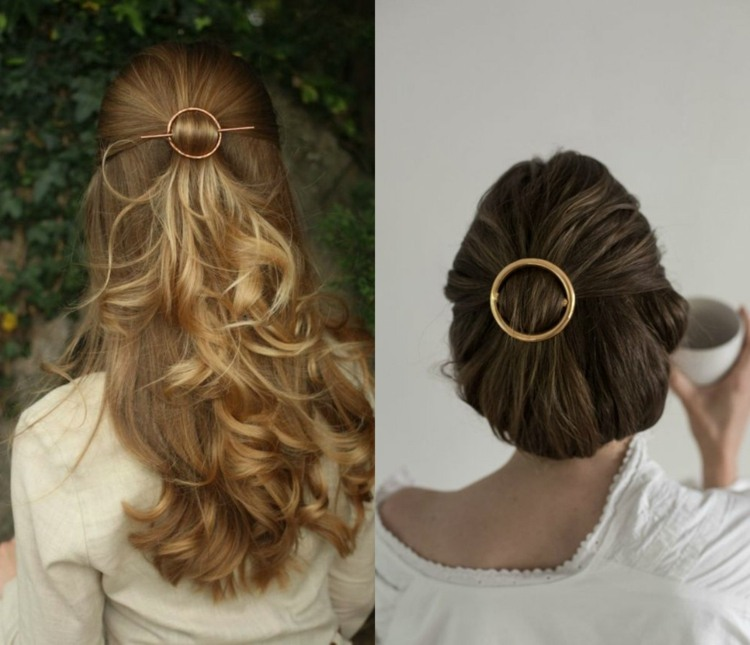 peinados de novia ideas anillo dorado