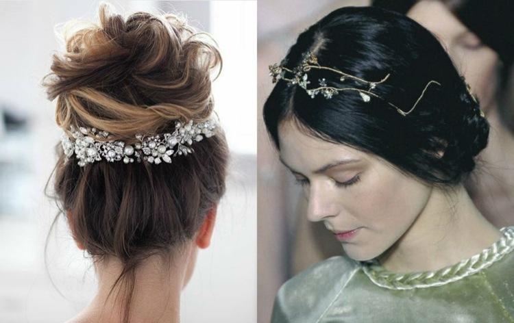 peinados de novia ideas perlas pequenas