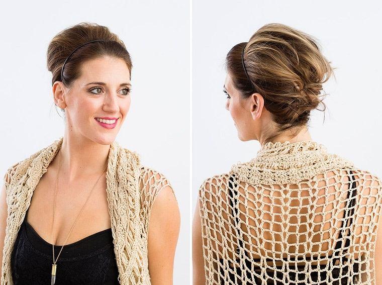 peinados fáciles paso a paso-idea-original-recogido-estilo