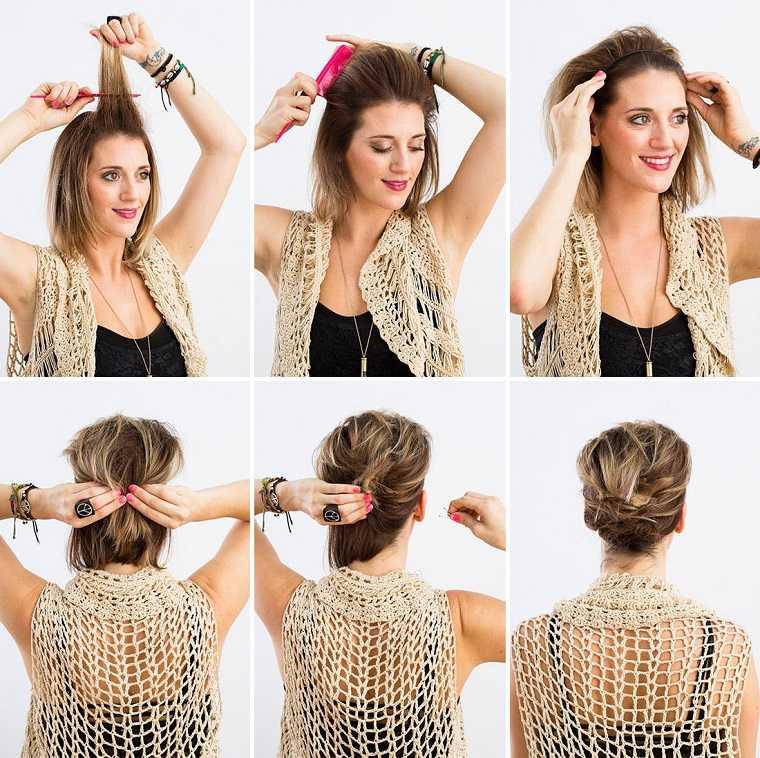 peinados fáciles paso a paso-idea-original-recogido