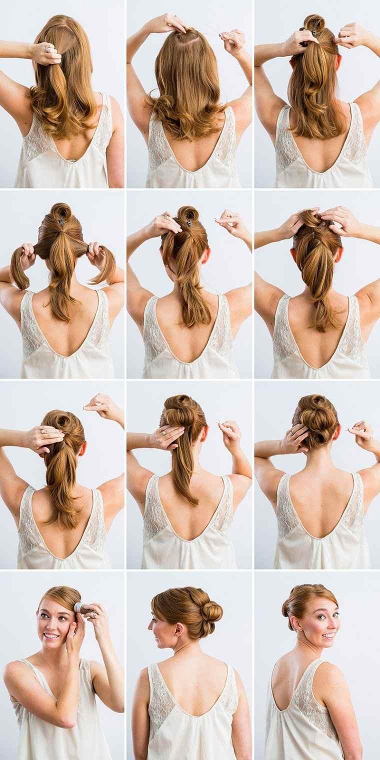 peinados fáciles paso a paso-ideas-originales