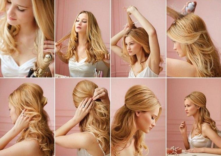 peinados fáciles paso a paso-opciones-cabello-mujeres