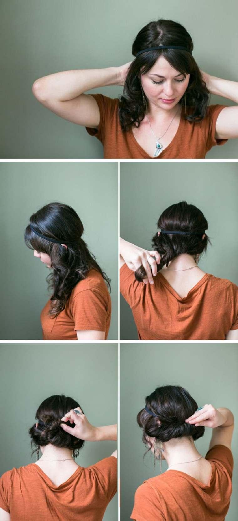 peinados fáciles paso a paso-recogido-bajo
