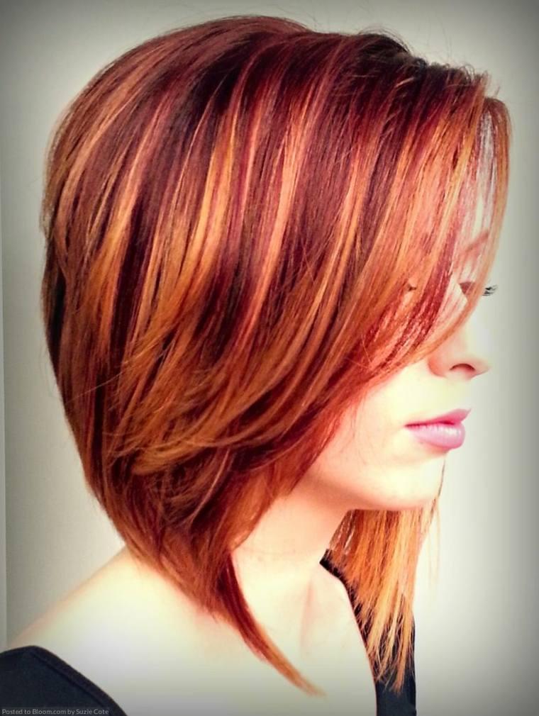 peinados para cabello rojo