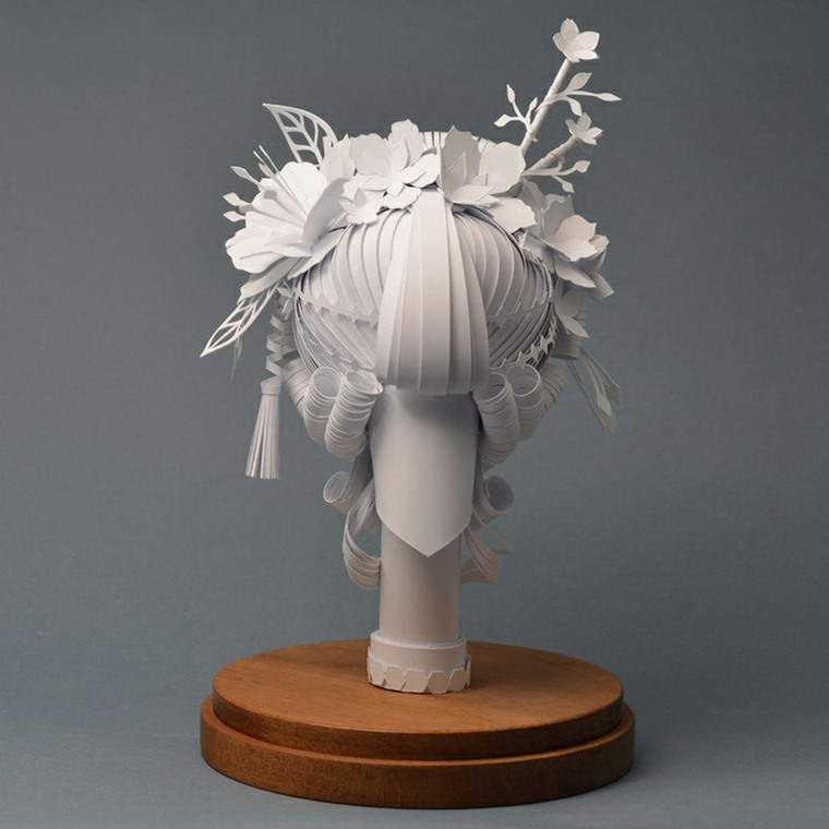 peluca barroca de papel