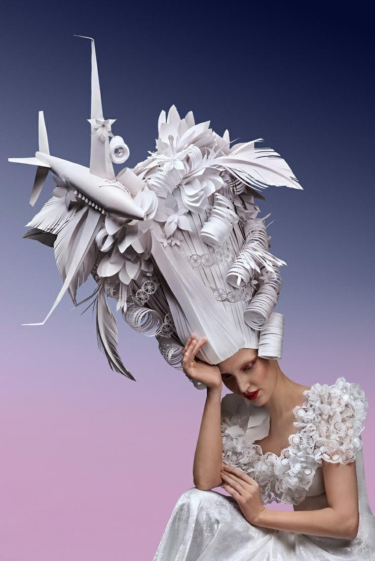 peluca barroca de Asya Kozina