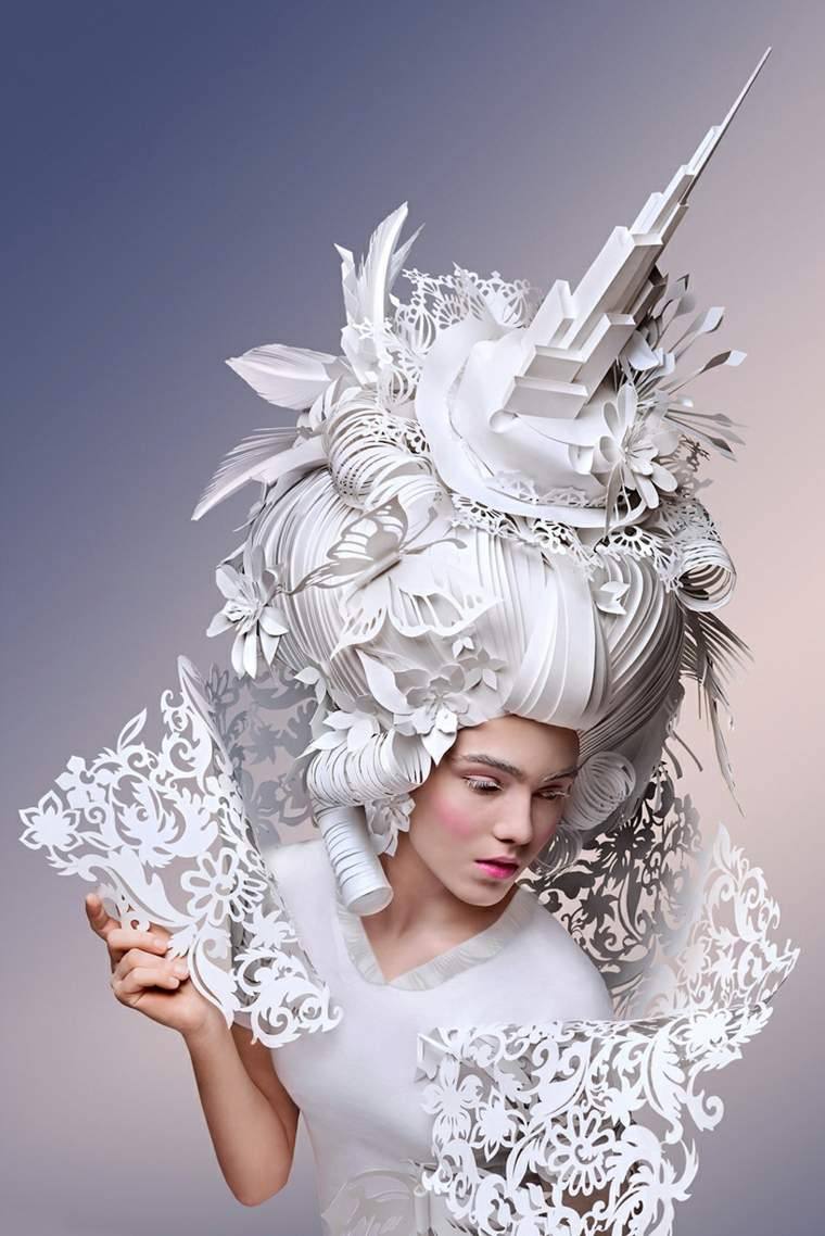 peluca barroca de diseño