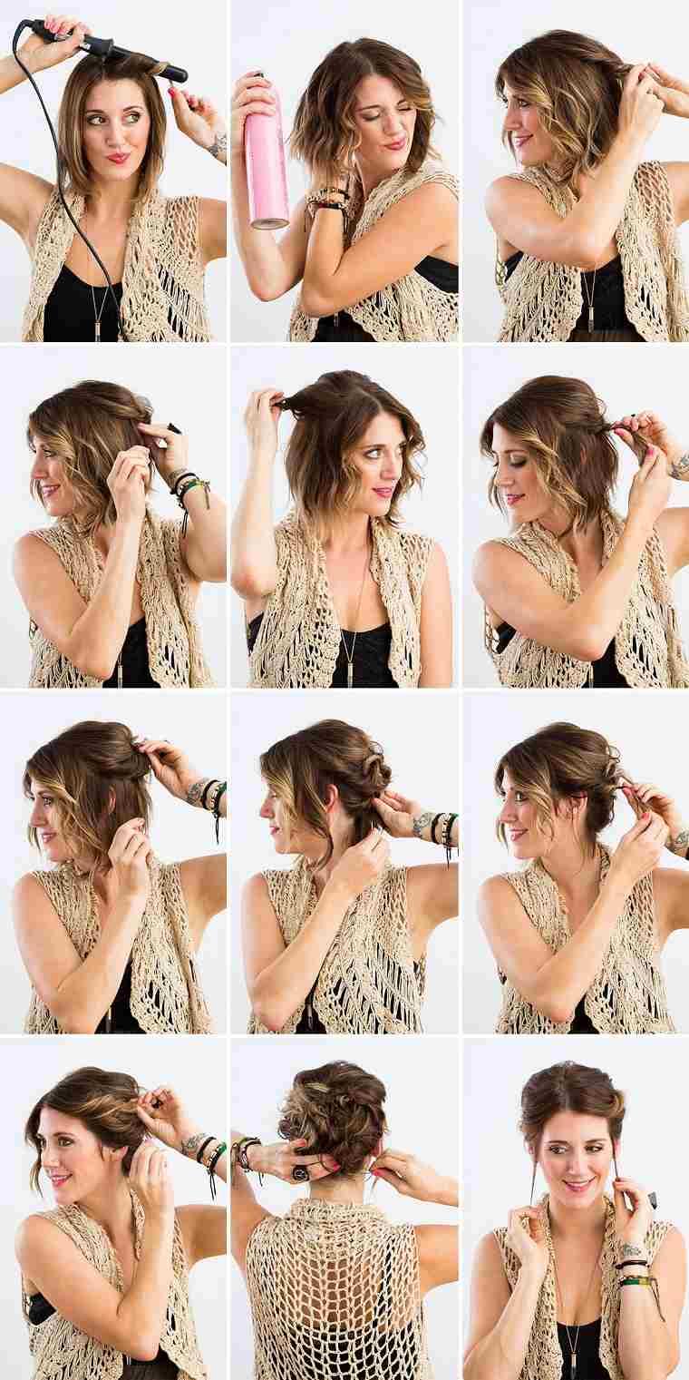 peinados fáciles paso a paso-tutorial-pelo-corto