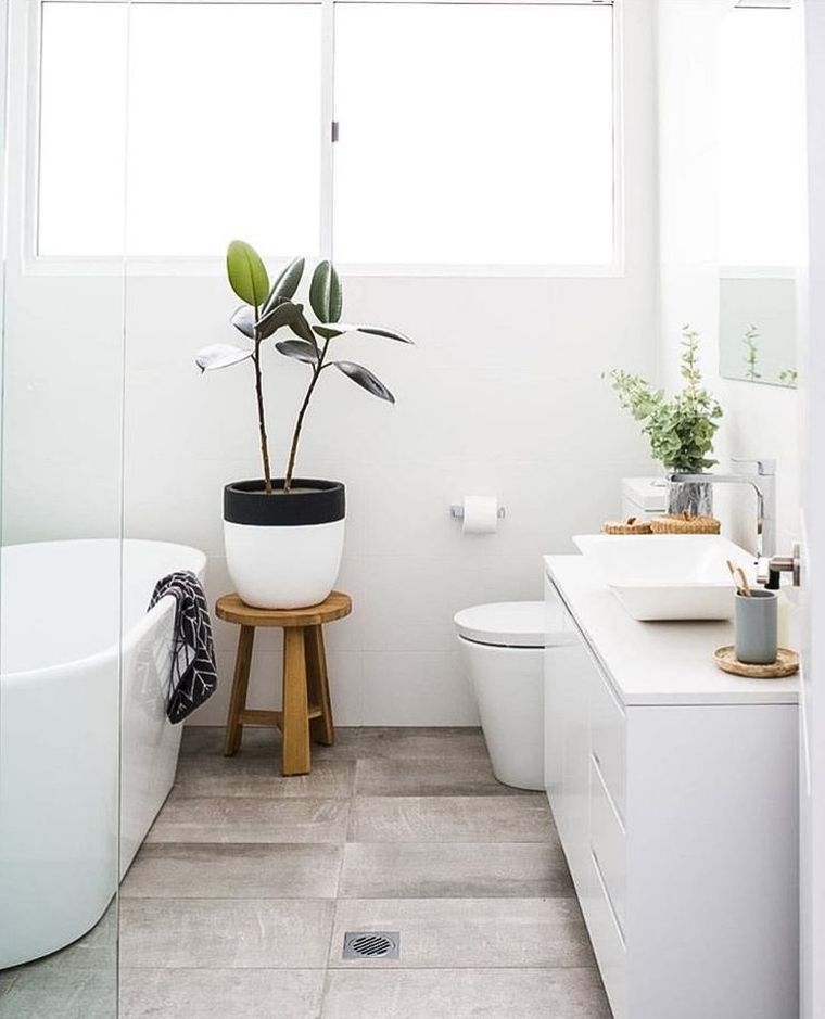 diseño de baño sencillo