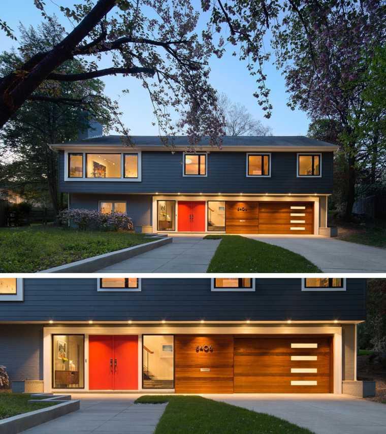 puerta de color rojo intenso