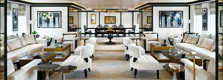 diseñar y decorar interiores de yates de lujo