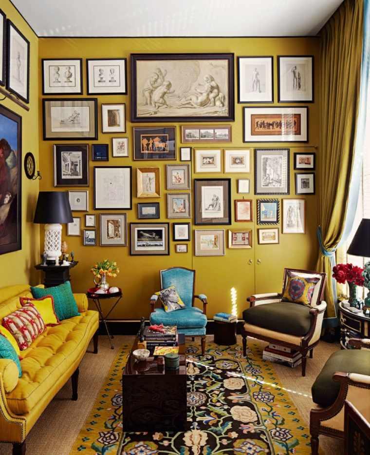 salones-pequenos-muebles-disenо-decorar-pared