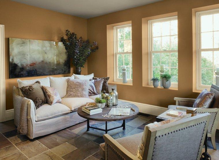 salones pequeños muebles diseño-colores-neutrales