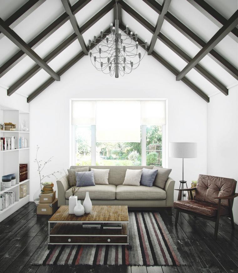 salones pequeños muebles diseño-elegante
