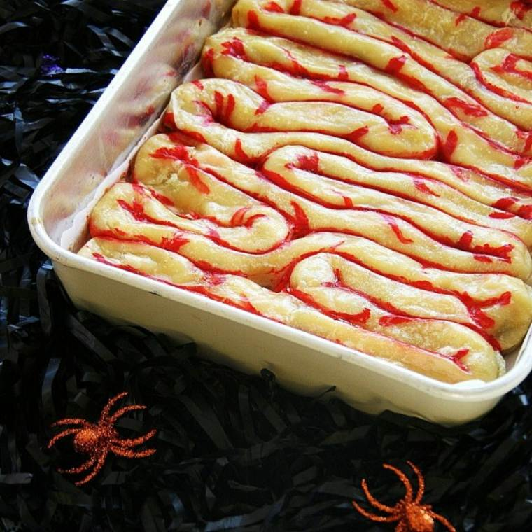 pastel sangriento de Halloween