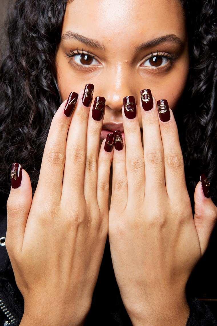 uñas decoradas diseños actuales -color bello