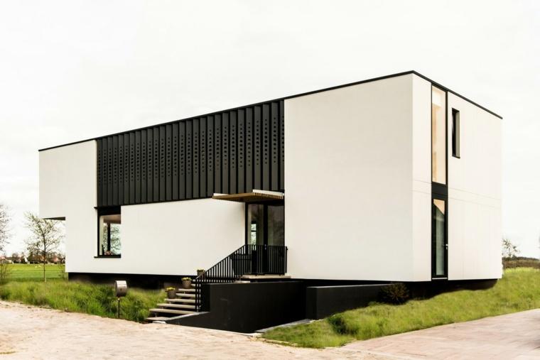 villa diseño moderno diferente ambientado