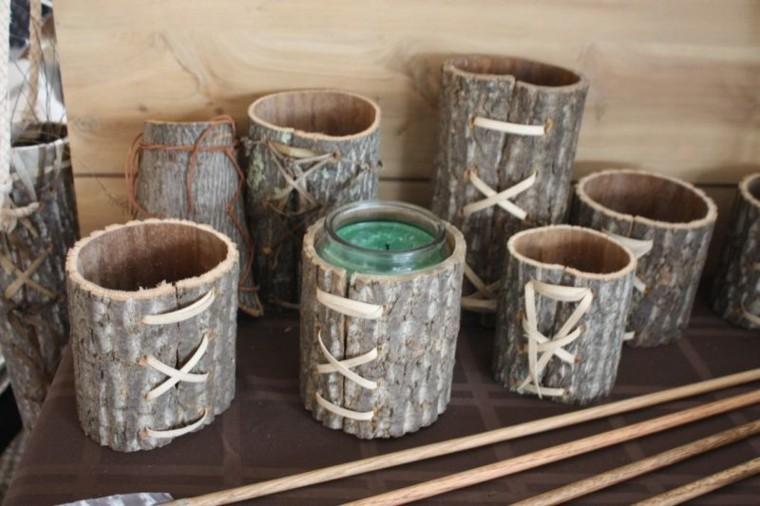 vasos decorativos de cortezas