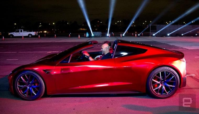 diseño de Tesla Roadster