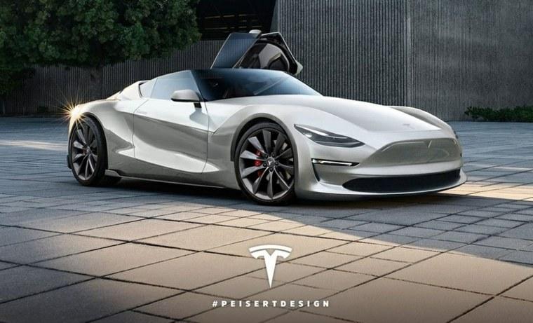 Tesla Roadster diseñado por Peisert
